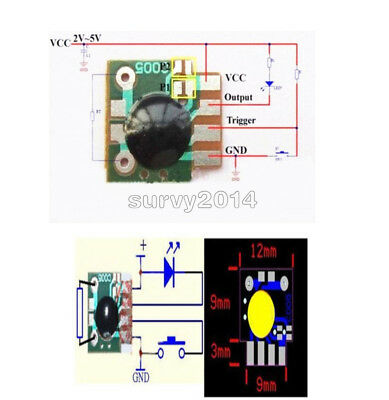 5/10PCS Multifunction Delay Trigger Timing Chip Module Timing 2s -1000h Timer IC