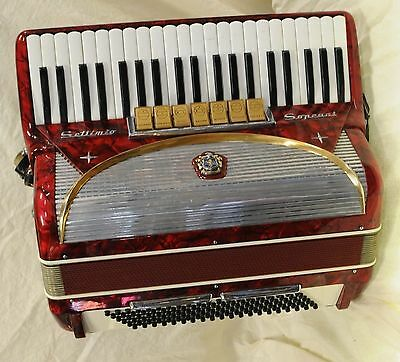 Settimio Soprani 120 Bass 7 Coupler Piano Accordion with Case - Made in Italy