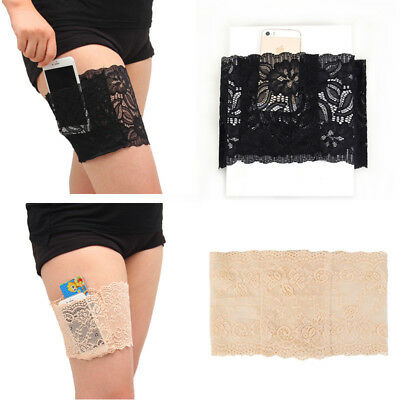 Pair Anti-Chafing Thigh Pocket Bands Women Stylish Non Slip Lace Elastic Sock