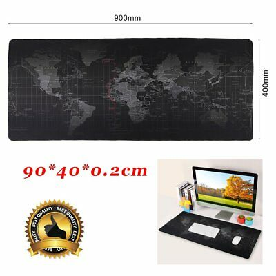 90X40cm Large Non-Slip World Map Game Mouse Pad Mat For Laptop Computer Keyboard