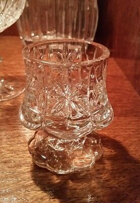 "Cut Crystal Votive Holder 3.5"" tall"