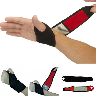 New Tourmaline Heating Wrist Support Brace Strap Wristband Pain Relief Magnetic