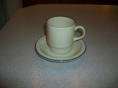 Vintage Poole Broadstone coffee cups and saucers -set of 4