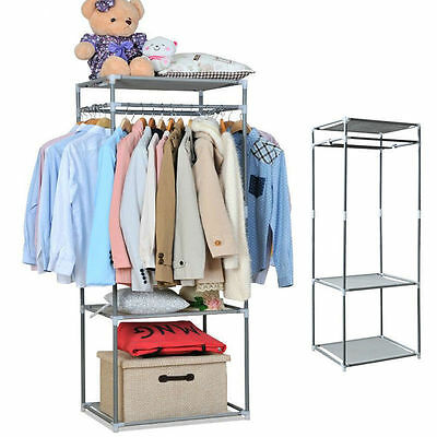 Multipurpose Stand Rack Hanger Clothes Portable Hanging Rail By Home Discount UK