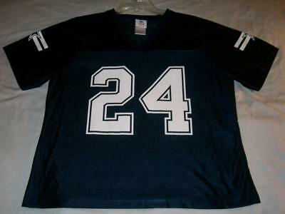 2a8456806 Marion Barber 24 Dallas Cowboys Team Apparel NFL Blue Jersey Women s XL used