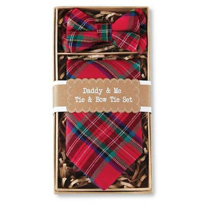 Mud Pie Holiday Daddy & Me Tartan Plaid Bow Tie & Necktie Set
