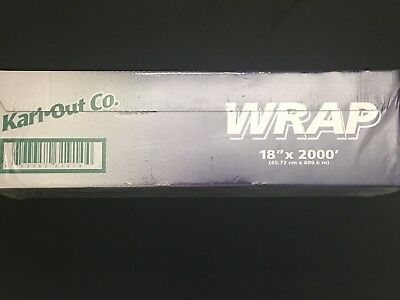 "Plastic Food Service Film Cling Wrap Roll 18""x2000' - FREE SHIPPING!"