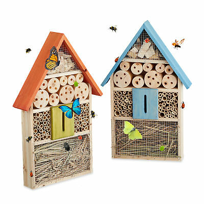 Insect Hotel Butterfly House Colorful Bug Home Garden Balcony Bees Ladybugs