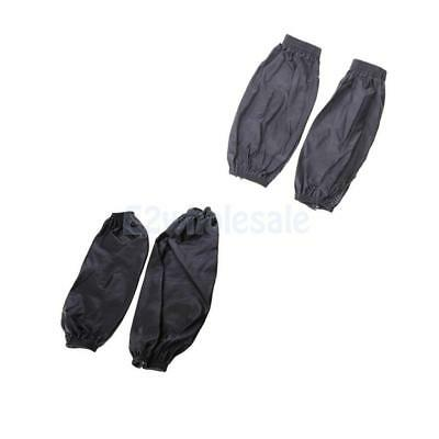 Waterproof Cuffs in Black +Gray with Elastic Line Oversleeve for Laboratory