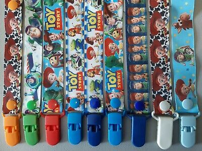 TOY STORY /  BUZZ  / WOODY / Dummy Clip / Dummy Clips / Pacifier Clips / Chain
