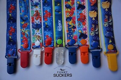 FINDING NEMO / DORY  Handmade Dummy Clips /Pacifier Clips /Chain