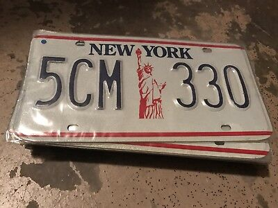 1986 New York License Plate 5CM 330
