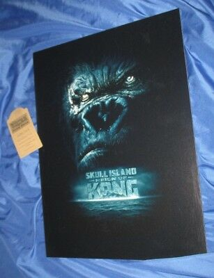 REIGN OF KONG Universal Studios Theme Park Movie PROP Display Sign (Ride/King)