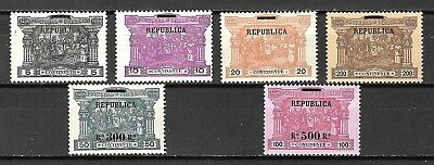 Portugal Sc#193-8 LH Vasco da Gama Postage Dues Surcharged, 1911