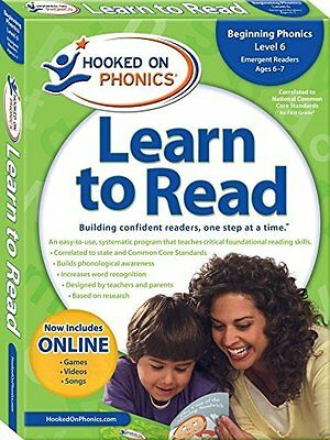 Hooked on Phonics Learn to Read: Beginning Phonics Level 6 Paperback