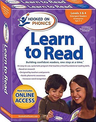 Hooked on Phonics Learn to Read - Levels 3&4 Complete: Emergent Readers - Ages