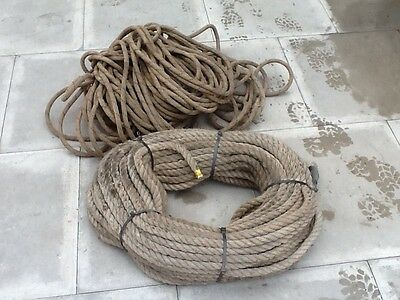 20/25mmdia rope. 2x bundle (used) ideal for hoisting items