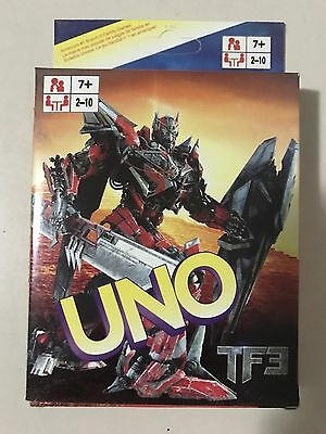 Transformaer uno CARDS Family Fun Playing Card Educational Theme Board Game