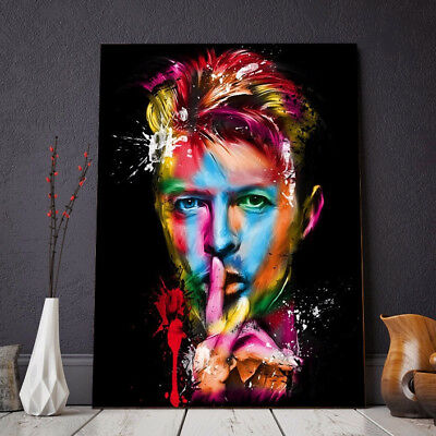 Framed Home Decor Canvas Print Painting Wall Art Rock singer David Bowie Poster