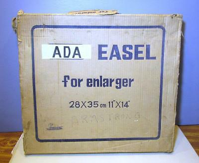 "Vintage Ada Metal Darkroom Enlarger Easel - 11"" x 14"" - In Original Box"