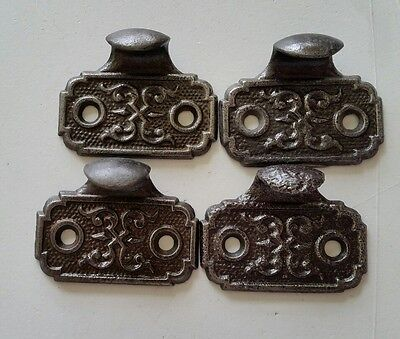 4 Matching Fancy Victorian Style Window Sash Lifts~Cast Iron  Dated 1871 (353)