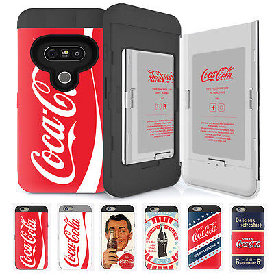 Skinu Coca Cola Card Protect Shockproof Hard Dual Bumper Cover Case For LG G5 G6