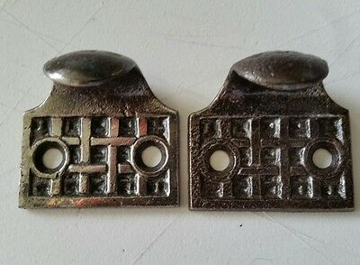 Pair Victorian Antique   Fancy  Decorative Window Sash Lifts~Cast Iron  (360)