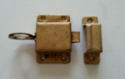 Old Vintage Metal  Cabinet Latch Lock With Catch (368)