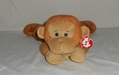 1997 Retired TY Pillow Pal Plush Brown Monkey Swinger with Tags