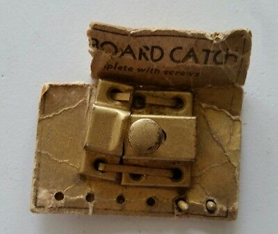 Small Old Vintage Metal Cabinet Latch With Catch  Unused (372)