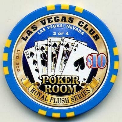 $10 Las Vegas Club Spades Royal Flush Casino chip