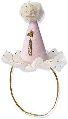 Mud Pie Baby Birthday Party Head Band Hat One 12 18 Months