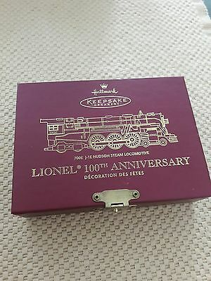 Lionel 100th Anniversary Hallmark Keepsake 700 J-1E Hudson Steam Locomotive