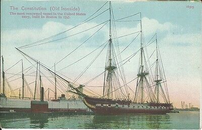 Postcard, The Constitution (Old Ironside)