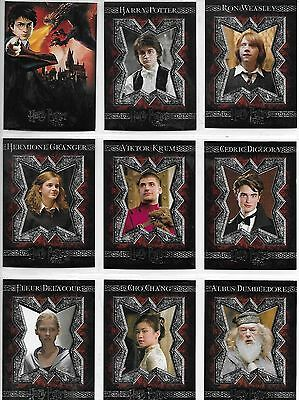 Harry Potter and the Goblet of Fire 1-90 Base Card Set