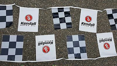 Kendall Motor Oil Banner with checkers 18 foot NOS?