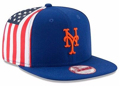 9805bb85947 NEW ERA 9FIFTY New York Mets Snapback Hat American USA Flag Side MLB ...