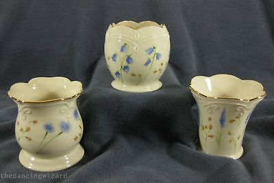 Classic Lenox Set of 3 Floral Votive Candle Holders Fine China 24kt Trim