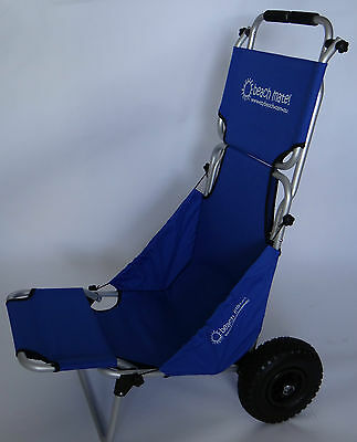 Folding Beach Trolley Blue deluxe, fishing, camping, surfing, sports, holidays