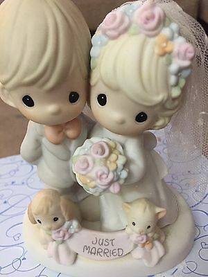 Precious Moments Til The End Of Time Just Married Figurine #4001653