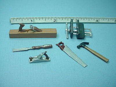 Miniature Handyman's Tool Set 7 (6 pc) Reynolds Painted Metal