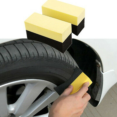 2Pcs Auto Car Wheel Tyre Cleaning Dressing Waxing Polishing Brush Tool Mirable