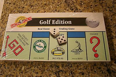 Golf Edition Monopoly Board Game 2000 New and sealed