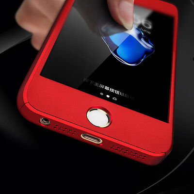 For Apple iPhone 5S SE 5 Hybrid 360° New Shockproof Case Cover + Tempered Glass