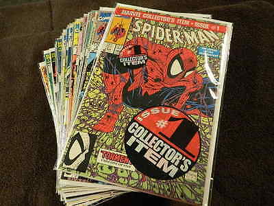 1990 MARVEL Comics SPIDER-MAN #1-66 w./Green Bagged #1 - 34 Comic Lot /McFARLANE