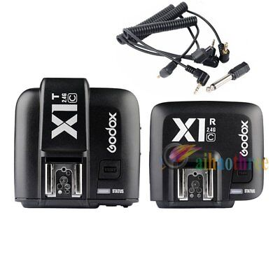 Godox X1T-C TTL HSS 1/8000s 2.4G Flash Trigger + X1R-C Receiver For Canon Camera