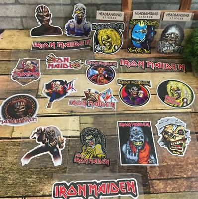 Iron Maiden Laptop Skateboard Bumper Luggage Waterproof Vinyl Decal Sticker