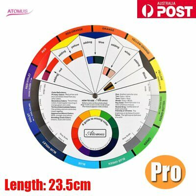 Artists Color Wheel Mixing Guide 23.5cm Diameter VC-POST