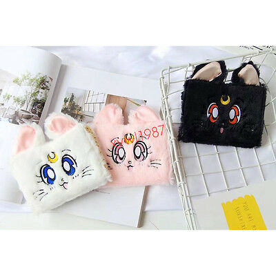 Newest Anime Sailor Moon Wallets Purse Plush Cosplay Students Papper Tampons Bag