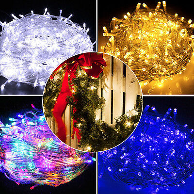 250/500 LED Christmas String Lights Fairy Party Wedding Outdoor Home Decor